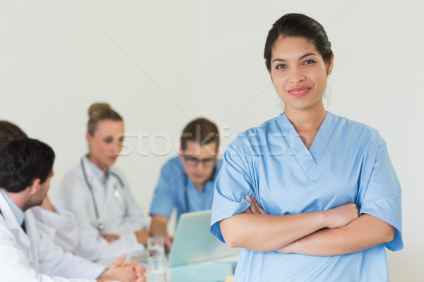 Female nurse standing arms crossed Stock photo © wavebreak_media