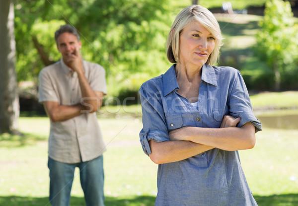 Sad couple in park Stock photo © wavebreak_media
