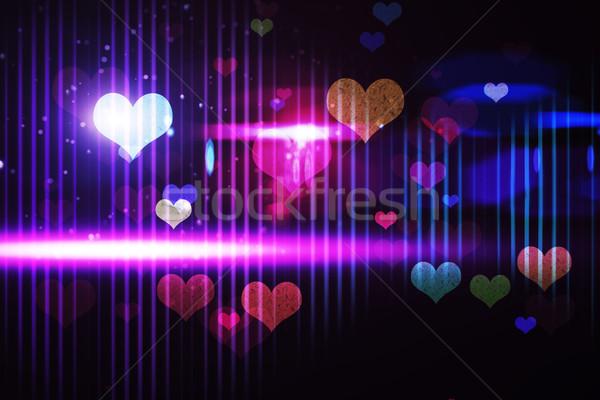 Legal vida noturna projeto corações luz festa Foto stock © wavebreak_media