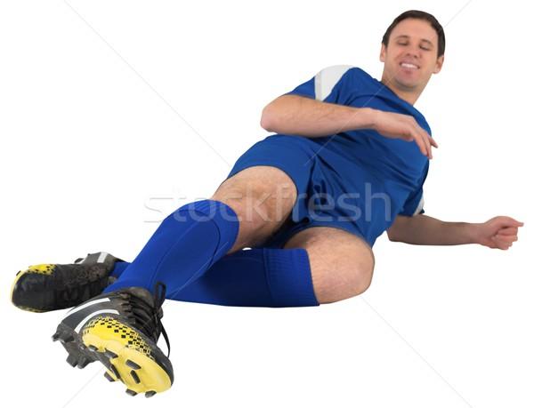 Futbolista azul blanco hombre fútbol Foto stock © wavebreak_media