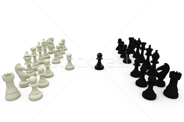Black and white chess pieces Stock photo © wavebreak_media