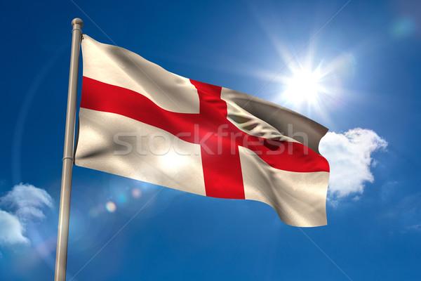 England national flag on flagpole  Stock photo © wavebreak_media