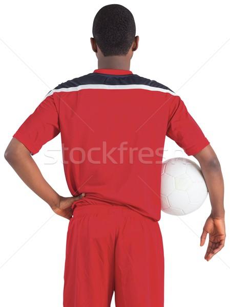 Guapo futbolista rojo fútbol artes masculina Foto stock © wavebreak_media