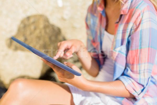 женщину пляж моде женщины Сток-фото © wavebreak_media