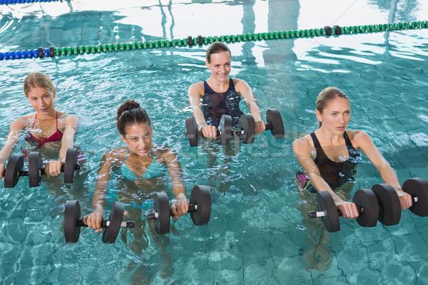 Kobiet fitness klasy aerobik piana Zdjęcia stock © wavebreak_media