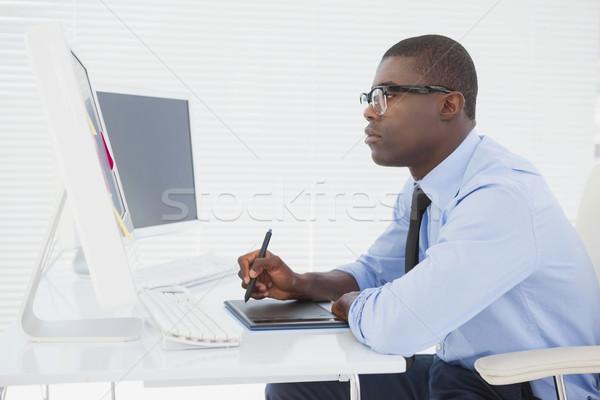 Gericht zakenman vergadering bureau werken kantoor Stockfoto © wavebreak_media
