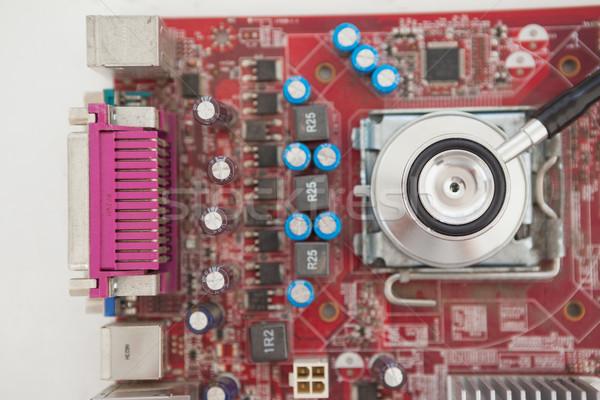 Stetoscopio cpu tavola ufficio computer tecnologia Foto d'archivio © wavebreak_media