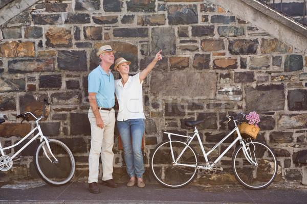 счастливым велосипедов город весны Сток-фото © wavebreak_media