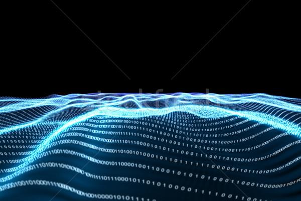 Digitálisan generált bináris kód tájkép fekete Stock fotó © wavebreak_media