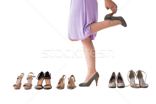 Mulher calcanhares branco feminino 20s Foto stock © wavebreak_media