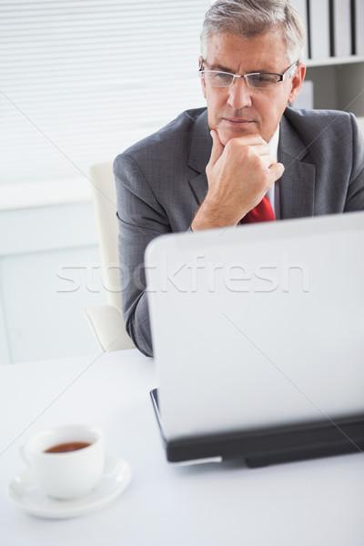 Gericht zakenman bureau kantoor business computer Stockfoto © wavebreak_media