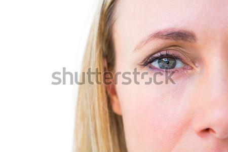 Gericht blond naar camera witte Stockfoto © wavebreak_media