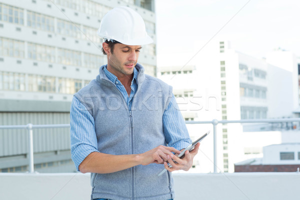 Male architect using digital tablet Stock photo © wavebreak_media
