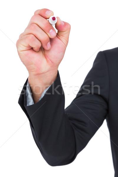 Businessman holding red felt  Stock photo © wavebreak_media