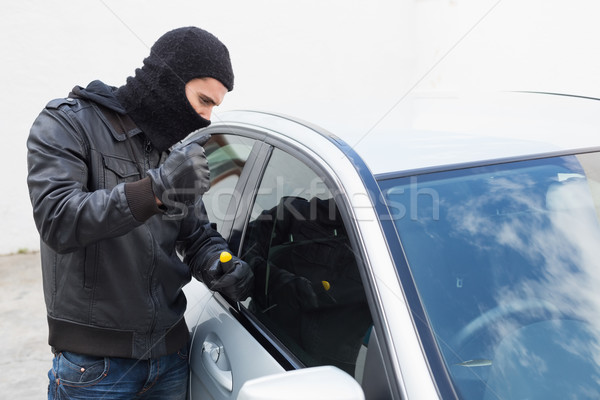 Tolvaj autó ajtó ablak férfi biztosítás Stock fotó © wavebreak_media