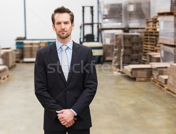 Magazynu kierownik stałego ręce wraz Zdjęcia stock © wavebreak_media