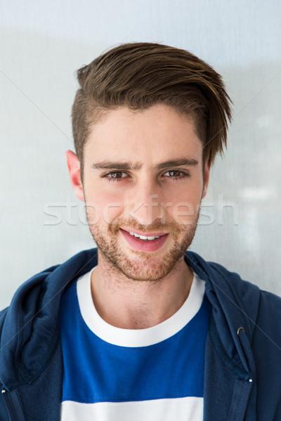 Portre gündelik genç gülen adam stil Stok fotoğraf © wavebreak_media