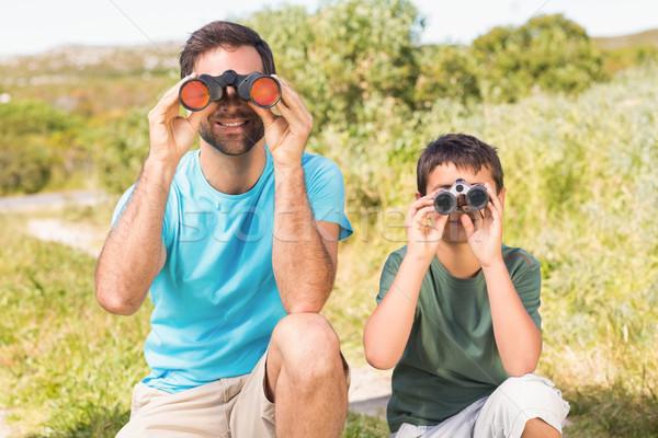 Père en fils campagne enfant portrait liberté Photo stock © wavebreak_media