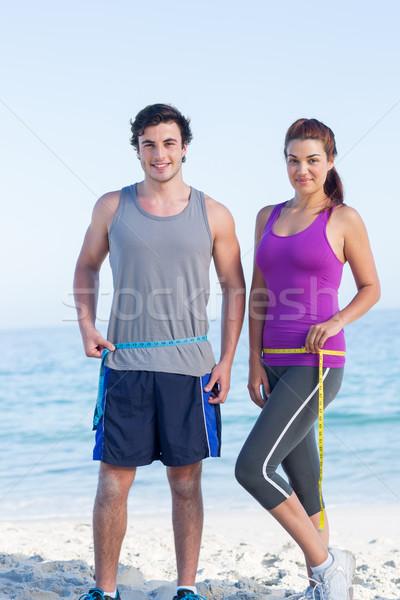 пару талия пляж женщину весны Сток-фото © wavebreak_media