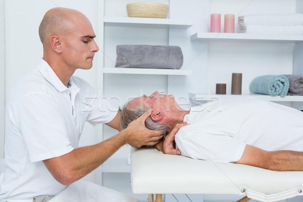 Man receiving head massage  Stock photo © wavebreak_media
