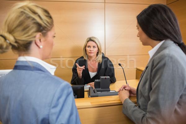 Abogados juez tribunal habitación mujer Foto stock © wavebreak_media