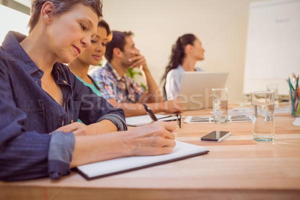 Creative бизнес-команды заседание внимательный служба стороны Сток-фото © wavebreak_media