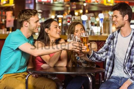 肖像 幸せ カップル ビジネス 男 レストラン ストックフォト © wavebreak_media