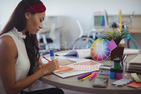 Side view of entrepreneur in creative office Stock photo © wavebreak_media