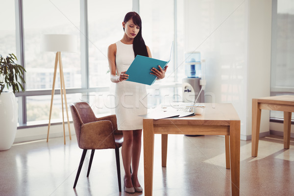 Attento executive lettura file desk ufficio Foto d'archivio © wavebreak_media