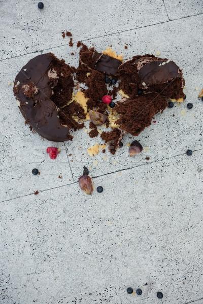 Ver bolo de chocolate piso amor arte Foto stock © wavebreak_media