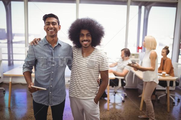 счастливым мужчины коллеги Постоянный команда портрет Сток-фото © wavebreak_media