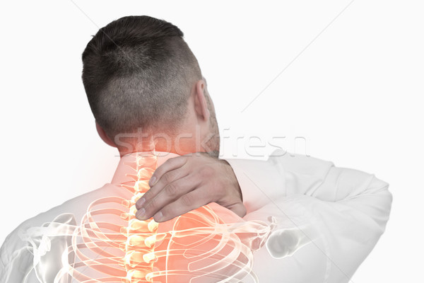 Composite numérique colonne vertébrale homme blanche équipe Photo stock © wavebreak_media
