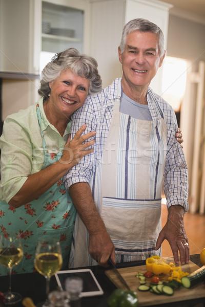 портрет улыбаясь кухне домой Сток-фото © wavebreak_media