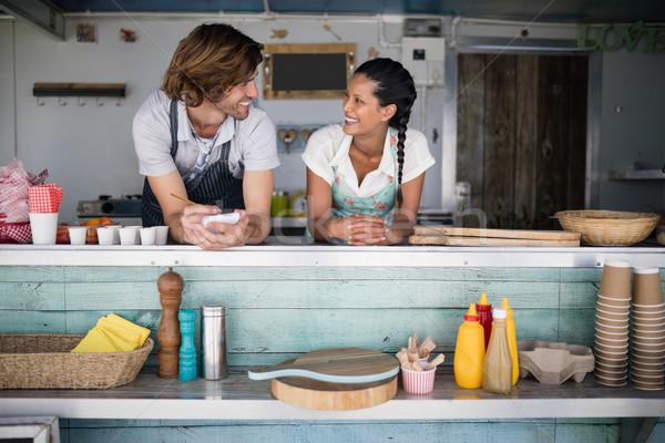 Garson garson diğer karşı iş kadın Stok fotoğraf © wavebreak_media