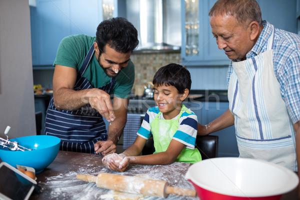 Ojciec mąka syn strony dziadek Zdjęcia stock © wavebreak_media