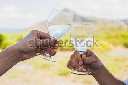 Smiling vintner holding glass of wine Stock photo © wavebreak_media