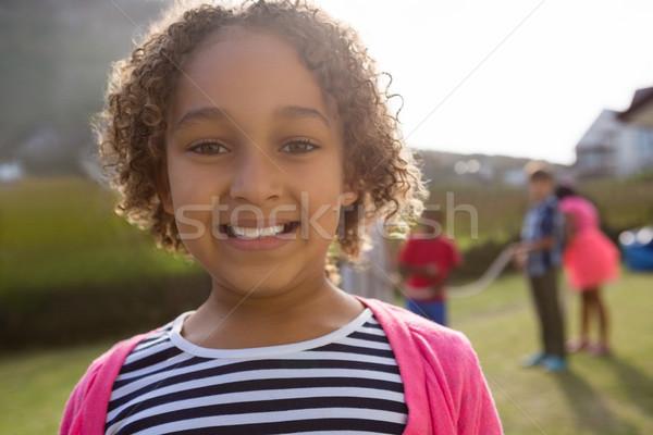 Portrait souriant jouer fête amour Photo stock © wavebreak_media