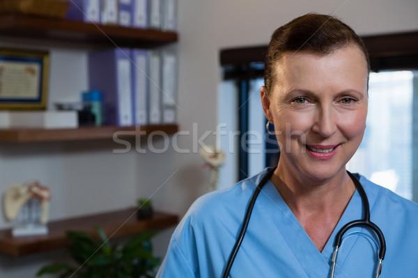 Smiling female doctor in hospital Stock photo © wavebreak_media