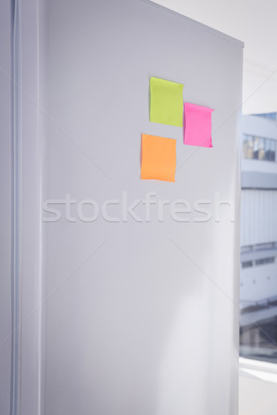 Post it note bloccato frigorifero finestra macchina Foto d'archivio © wavebreak_media