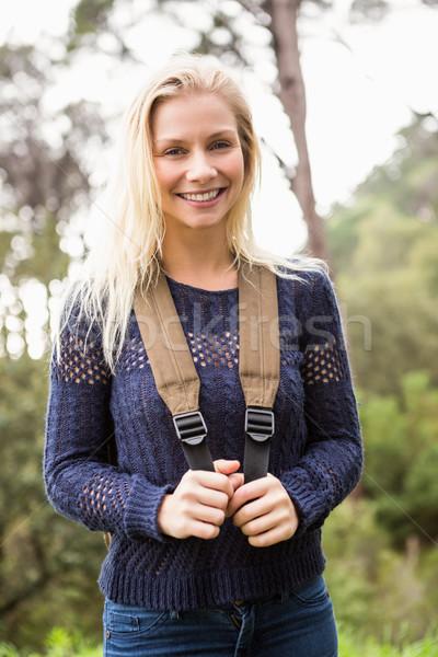 Smiling female hiker looking at the camera Stock photo © wavebreak_media