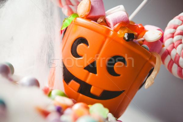 Kép vödör különböző édes étel fehér ősz Stock fotó © wavebreak_media