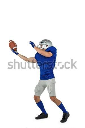 Americano futbolista pelota blanco hombre Foto stock © wavebreak_media