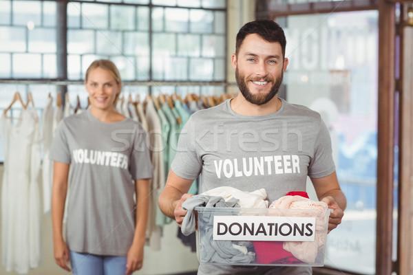 одежды пожертвование окна служба Сток-фото © wavebreak_media