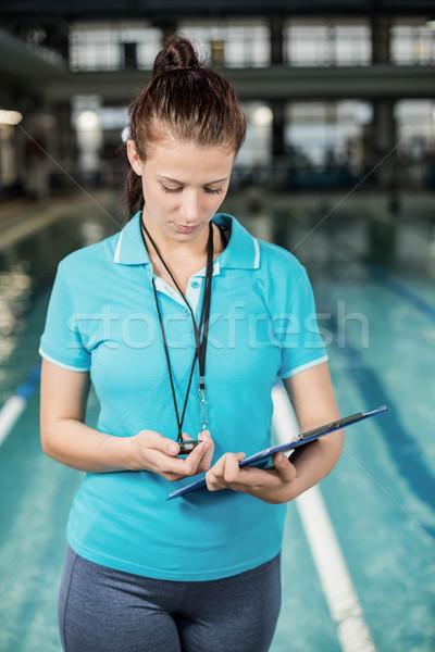 Kadın havuz su Stok fotoğraf © wavebreak_media