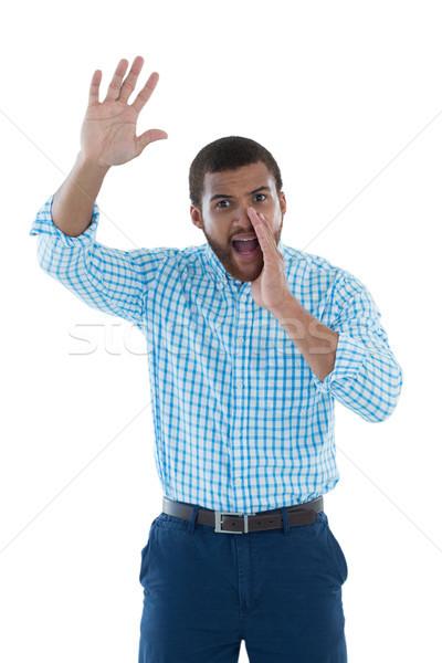 Férfi igazgató kiált fehér fiatal üzlet Stock fotó © wavebreak_media