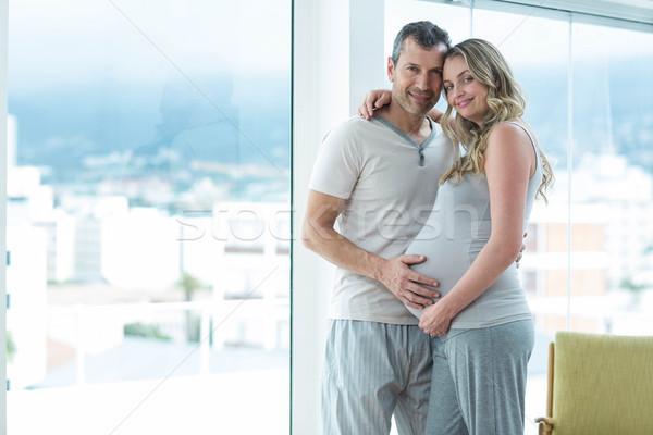 男 妊娠 胃 肖像 ベッド ストックフォト © wavebreak_media