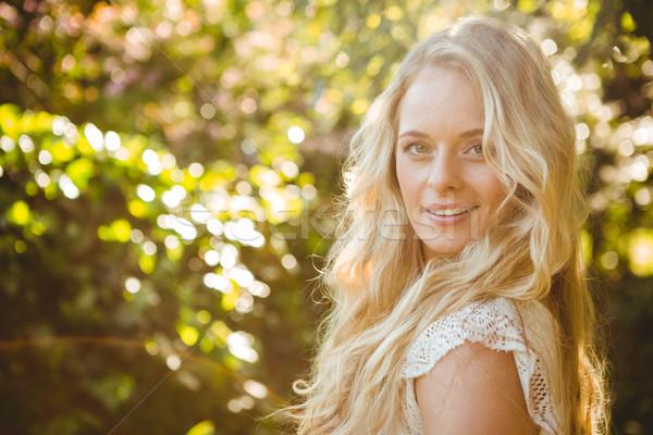 Beautiful woman looking the camera Stock photo © wavebreak_media