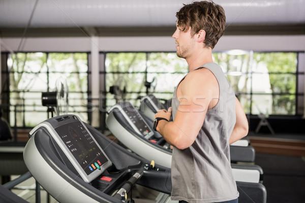 Adam çalışma iplik değirmen spor salonu sağlık Stok fotoğraf © wavebreak_media
