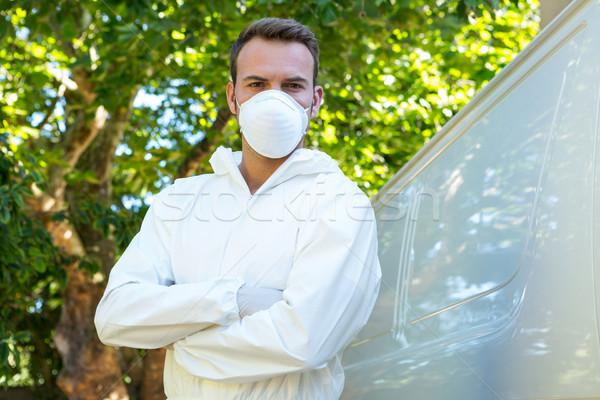 Portrait of pest control man standing next to a van Stock photo © wavebreak_media