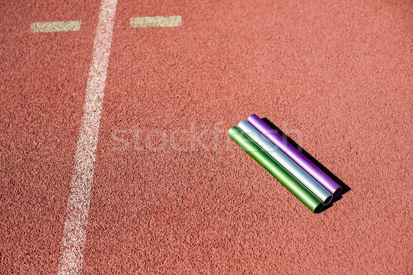 Relay baton on running track Stock photo © wavebreak_media